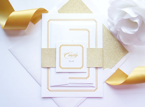 Bat Mitzvah, Quince or Sweet Sixteen Invitation - SAMPLE SET