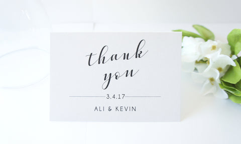 Calligraphy Wedding Thank You Cards -  DEPOSIT