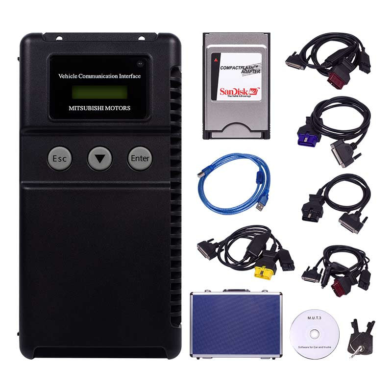 Mitsubishi MUT-3 Car and Truck Diagnostic Tool Kit / Mitsubishi MUT III Adapter With Coding Options - Software Installation Included !