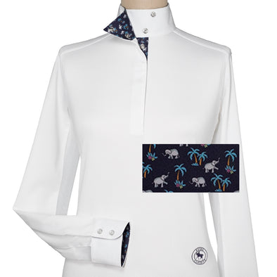 Essex Classics Elephanti Ladies Talent Yarn Wrap Collar Show Shirt