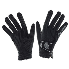 Samshield V-Skin Swaroski Gloves - Black - Equestrian Chic Boutique