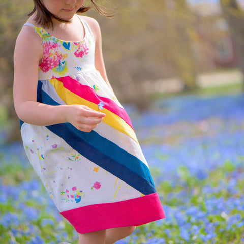 Abby's Rainbow Dress + Abby's Rainbow Skirt BUNDLE