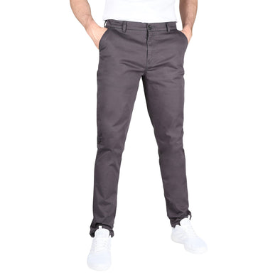 Carman TAPERED FIT Polished Chinos in Mechanic Grey