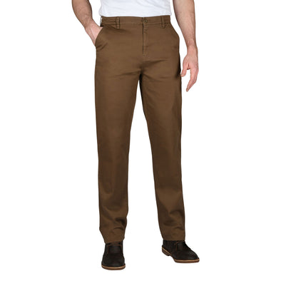 The J1: Straight-Leg Tall Polished Chinos in Coffee