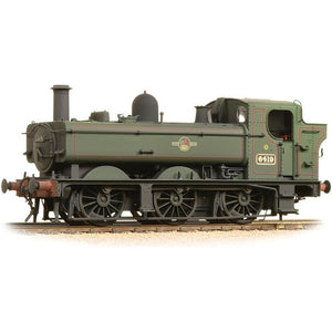 GRAHAM FARISH Class 64xx Pannier Tank 6419 BR Lined Green Late Crest Weathered (371-988)