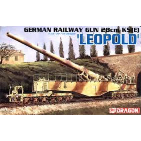 "DRAGON 1/35 German Railway Gun 28cm K5E ""Leopold"" (DR 6200)"