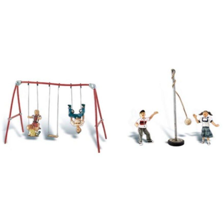 WOODLAND SCENICS HO PLAYGROUND FUN