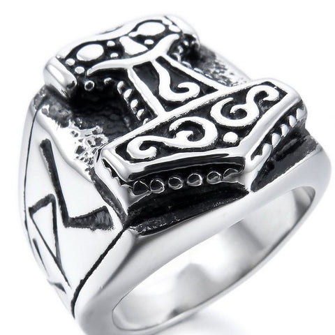 Stainless Steel Mjölnir Ring (FREE SHIPPING)