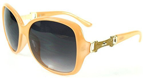 """Derby"" Oversized Fashion Sunglasses with Buckle Embellishment for Stylish Women - Aloha Eyes - 1"