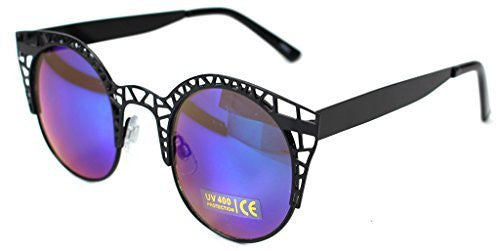 """Eiffel Tower"" Women's Cateye Metal Mesh Fashion Designer-Inspired Sunglasses - Aloha Eyes - 5"