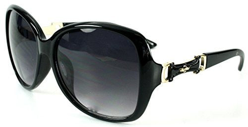 """Derby"" Oversized Fashion Sunglasses with Buckle Embellishment for Stylish Women - Aloha Eyes - 3"