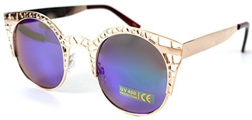 """Eiffel Tower"" Women's Cateye Metal Mesh Fashion Designer-Inspired Sunglasses - Aloha Eyes - 2"