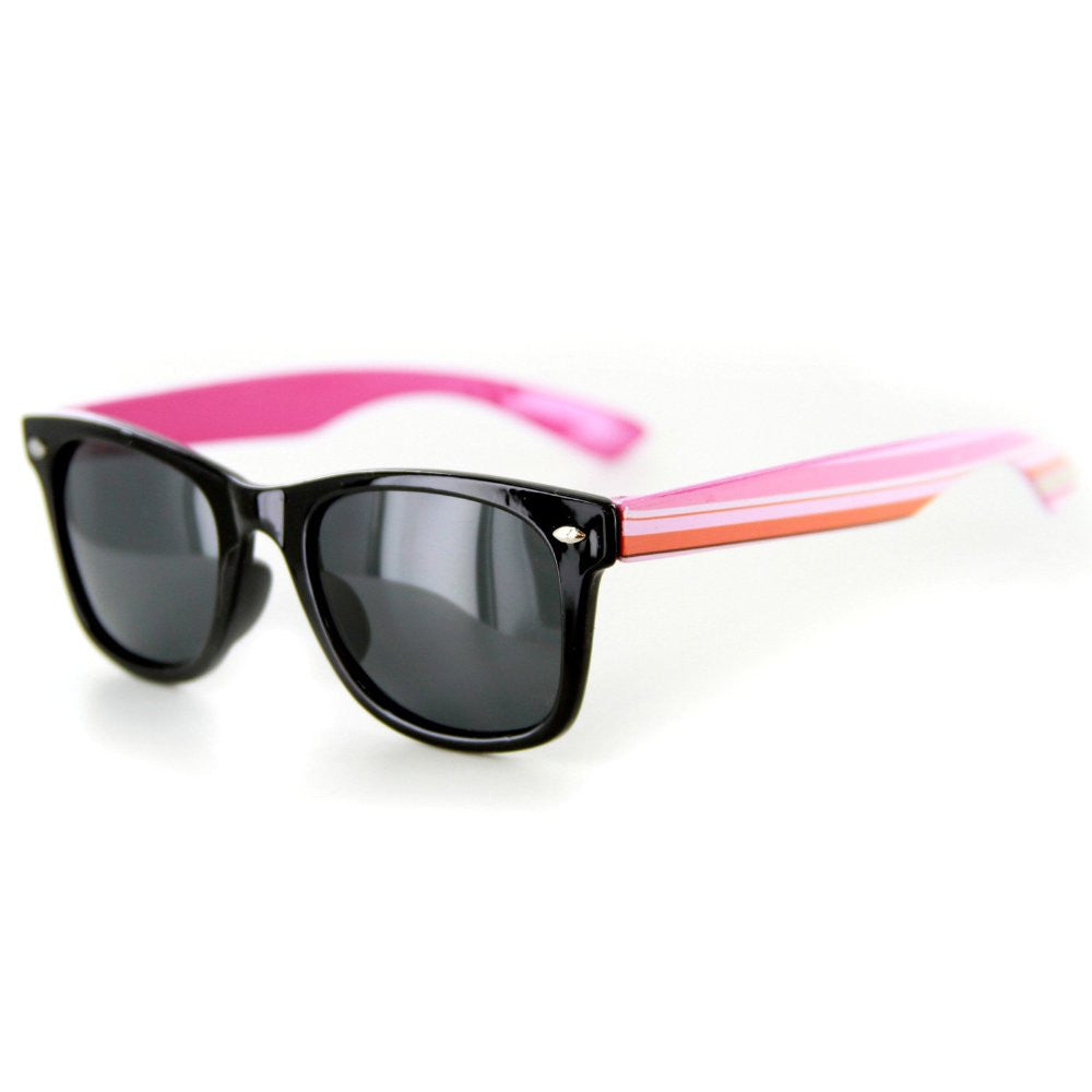 """Lollipops"" Polarized (Anti-Glare) Kids Striped Retro Wayfarer Sunglasses 100%UV - Aloha Eyes - 3"