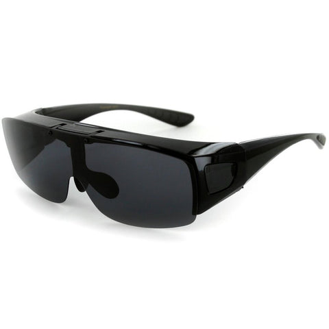 """Flip-Up Coverup"" Polarized Cover Over Sunglasses"