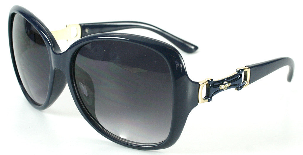 """Derby"" Oversized Fashion Sunglasses with Buckle Embellishment for Stylish Women - Aloha Eyes - 2"