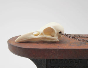 mini crow skull necklace