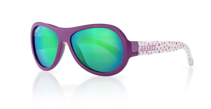Designer Aviator - Hearts Purple (3-7 yrs)