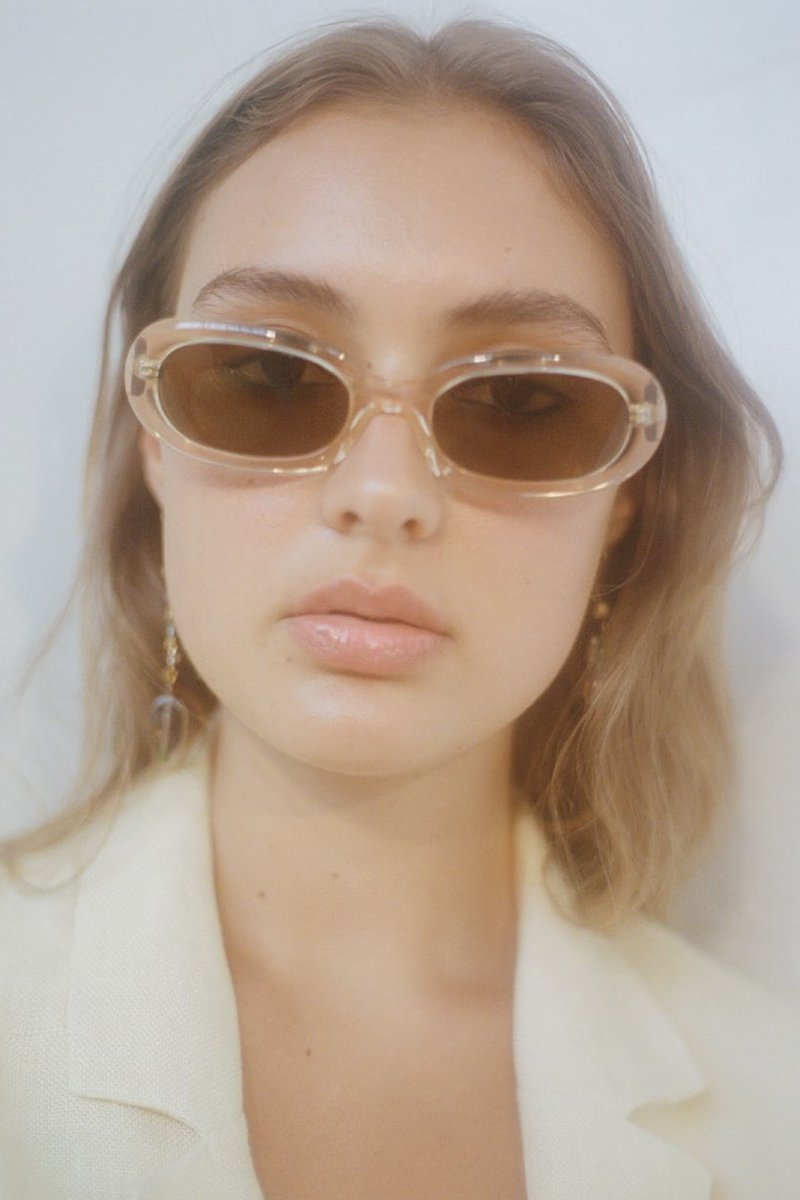 POMS 'Retta' Sunglasses – Peach with Moonstone