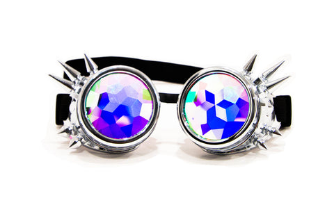 chrome spike costume steampunk kaleidoscope intense visuals prism effects
