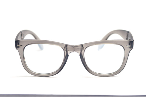 Matte Grey Spiral Foldable Diffraction Glasses