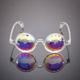 clear frame kaleidoscope prism intense visual effects glasses eyewear