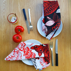 Pair of Fox and Cubs Napkins