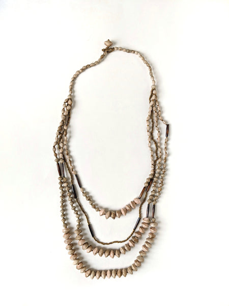 serengeti necklace, taupe