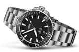 Oris Aquis Date Black 39mm Dive Watch Stainless Steel Band 01 733 7732 4124-07 8 21 05EB