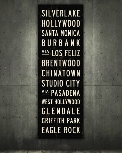 Los Angeles Subway Sign - LA Sign by Transit Design