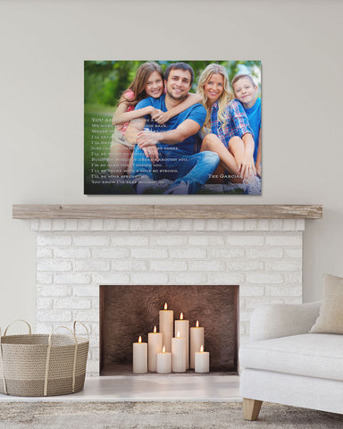 Personalized Family Photo, Custom Family Portrait Art by Transit Design