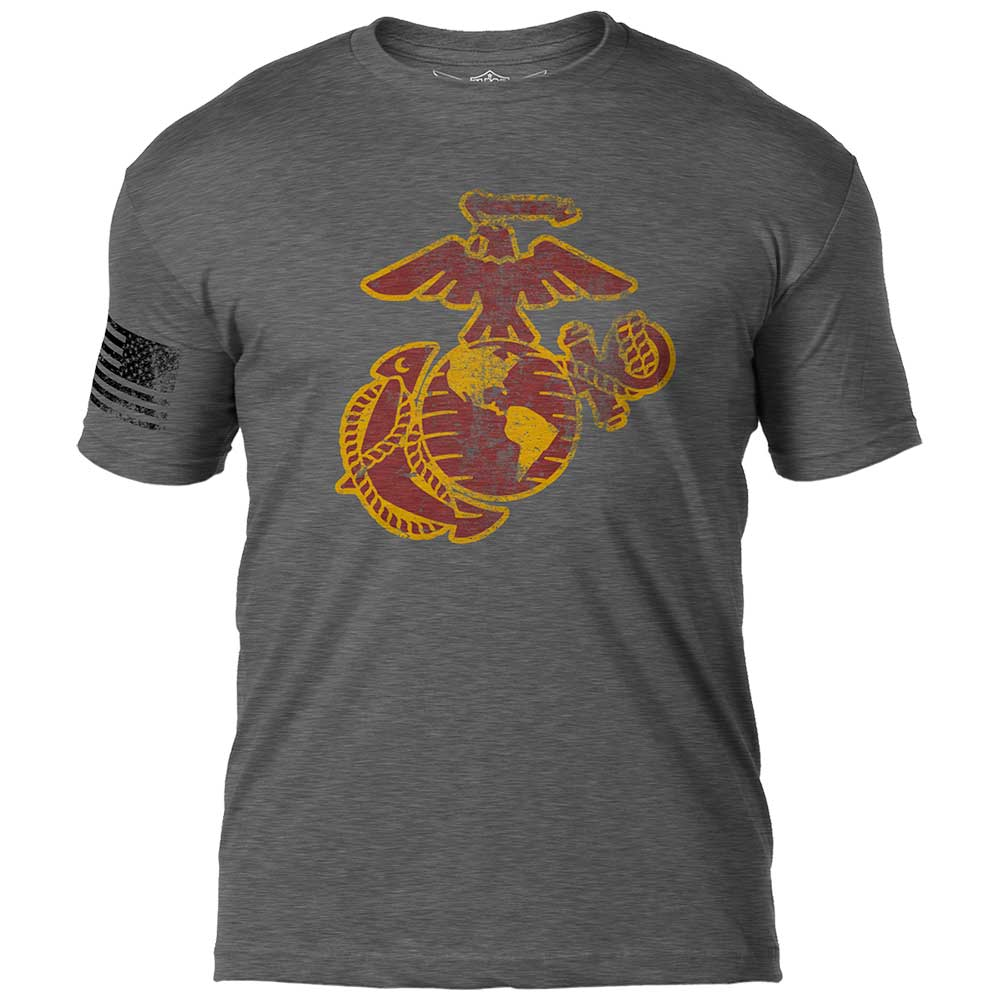 USMC EGA 'Distressed' 7.62 Design Battlespace Men's T-Shirt- 7.62 Design