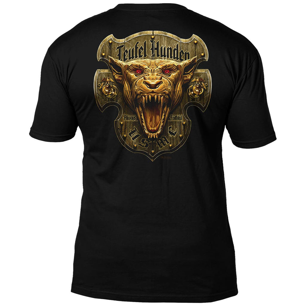 USMC 'Devil Dog - Teufel Hunden' 7.62 Design Battlespace Men's T-Shirt- 7.62 Design