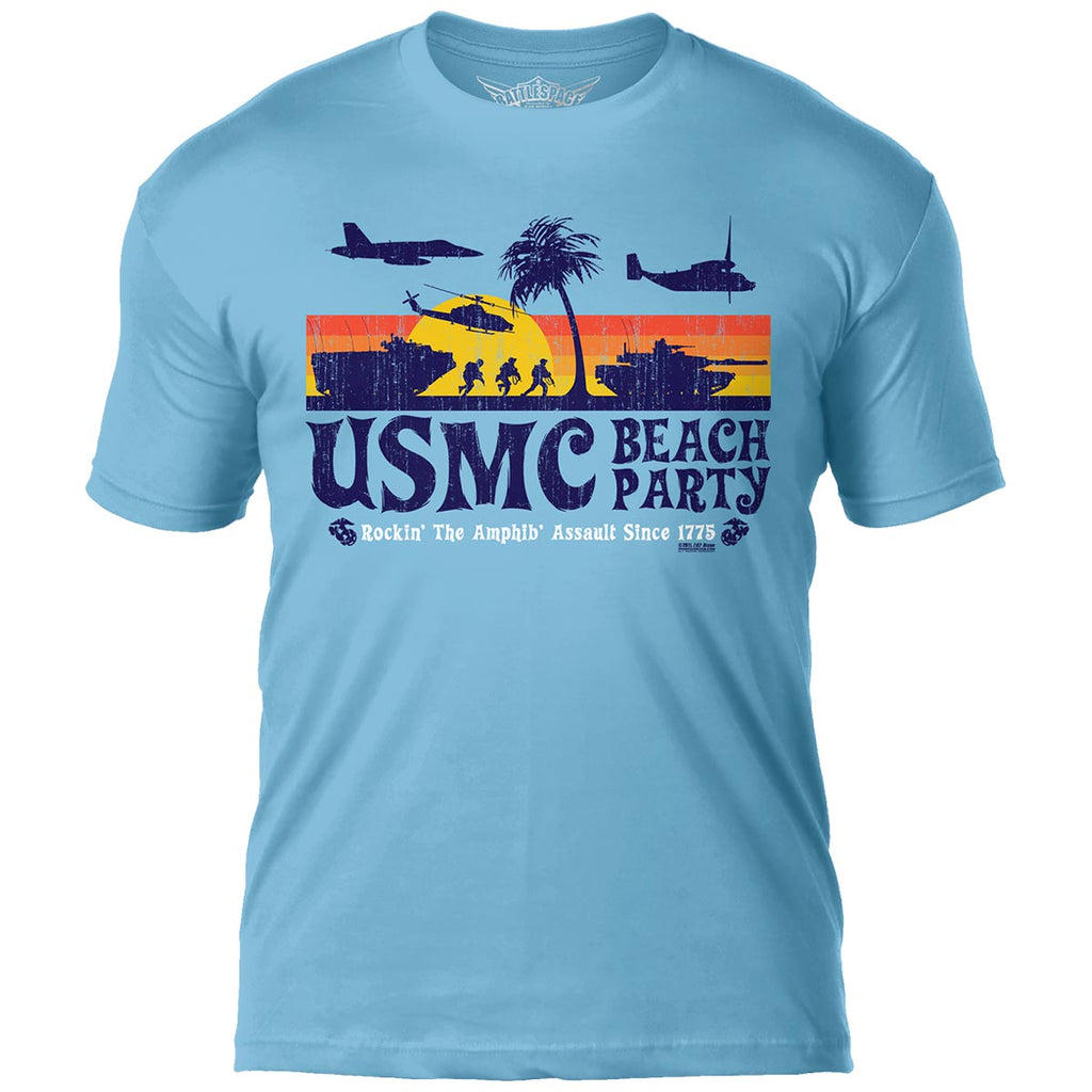USMC 'Beach Party' 7.62 Design Battlespace Men's T-Shirt- 7.62 Design