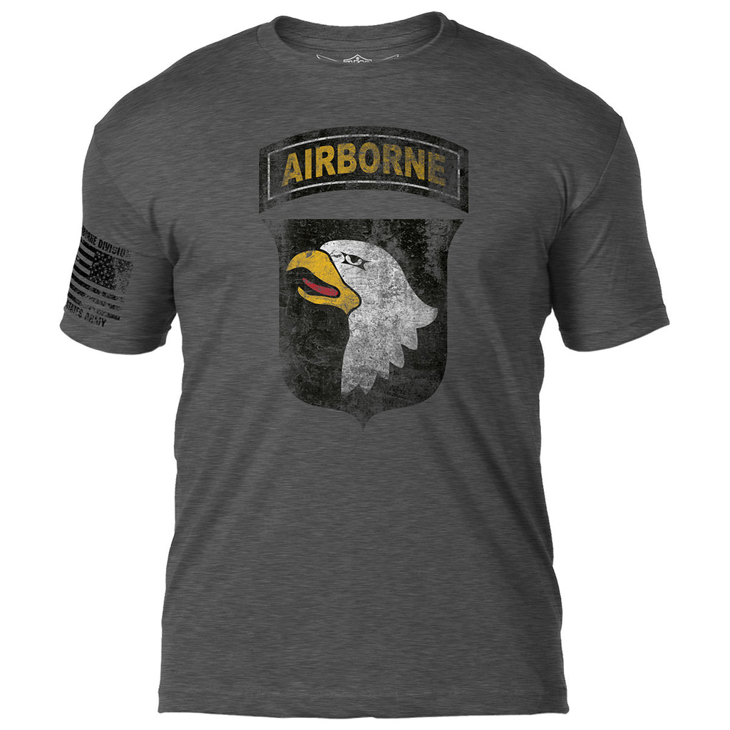 Army 101st Airborne 'Distressed' 7.62 Design Battlespace Men's T-Shirt- 7.62 Design
