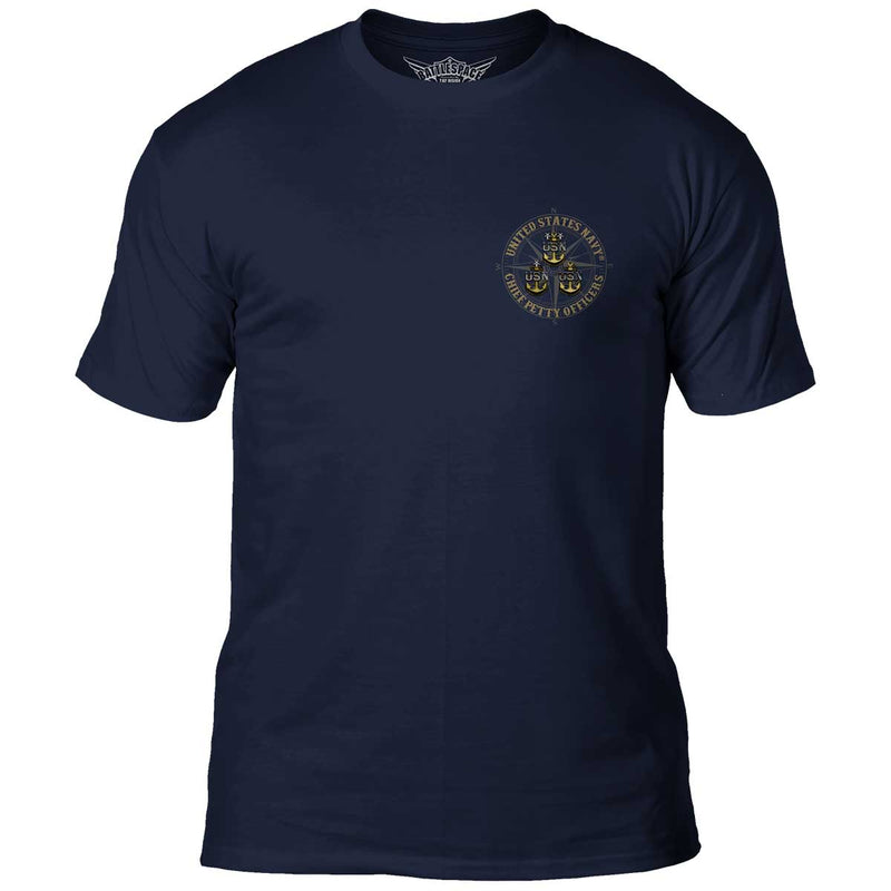 US Navy Chiefs 'Goat Locker' 7.62 Design Battlespace Men's T-Shirt- 7.62 Design