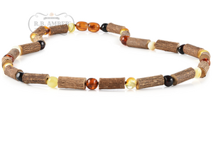Hazelwood & Baltic Amber Necklace for Adults - R.B. Amber & Sons