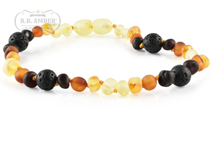 Baltic Amber Aromatherapy Teething Necklace for Children - R.B. Amber & Sons