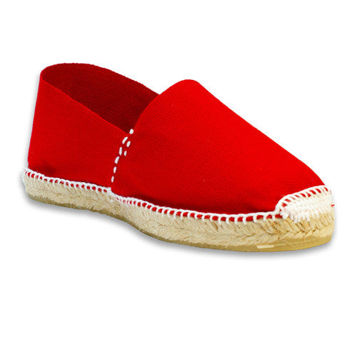 Womens casual shoes - Red sewn in white - Savate