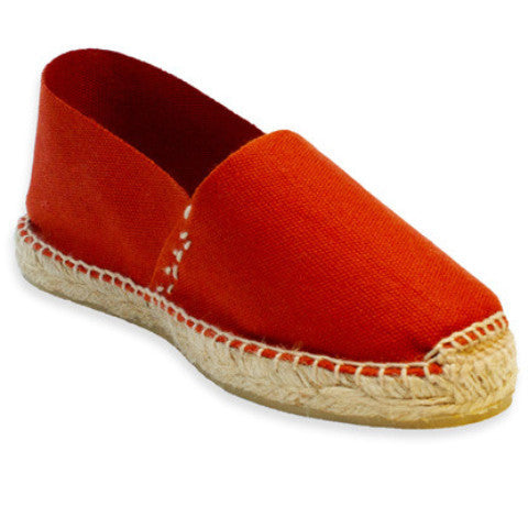 Womens casual shoes - Terracotta flats espadrilles - Savate