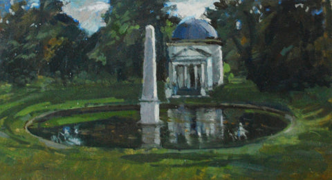 Ionic Temple Chiswick House from the 'Oils' collection by Jane Corsellis
