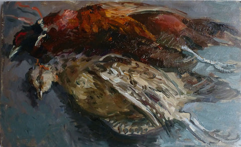 Brace of Pheasants - from the 'Oils' collection by Jane Corsellis