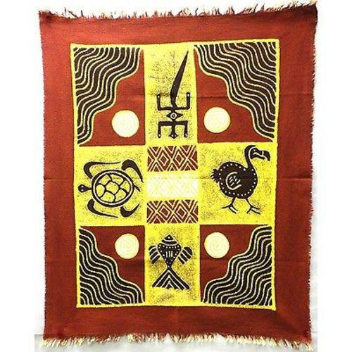 Four Creatures Batik in Red/Maroon Handmade and Fair Trade