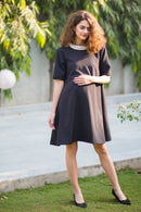 Premium Crepe Maternity Swing Dress