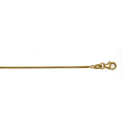 14K Yellow Franco Link Chain 1mm with Lobster Claw Clasp