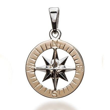Compass Rose Classic Women's Medium 14K Two-Tone Gold Pendant