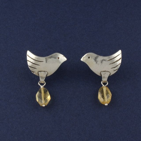 bird earrings with citrine - Ruth - Portobello Lane
