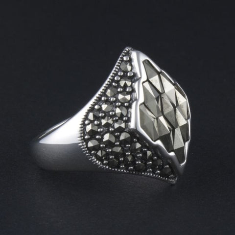 art deco ring diamond - Belle Artes - Portobello Lane