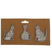 Grey Pet Magnets Pack Of 3