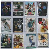 Lot of 12 Cards NFL Football Cards Authentic Jersey Patches 2003-2016 Rookie