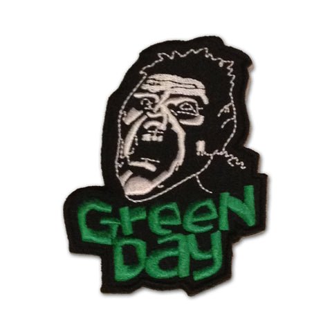Green Day Embroidered Scream Iron-On Patch - Rock N Sports